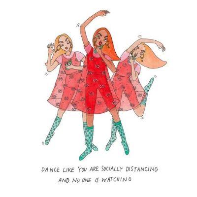 ilustraciones gucci beauty x Emma Allegretti bailar