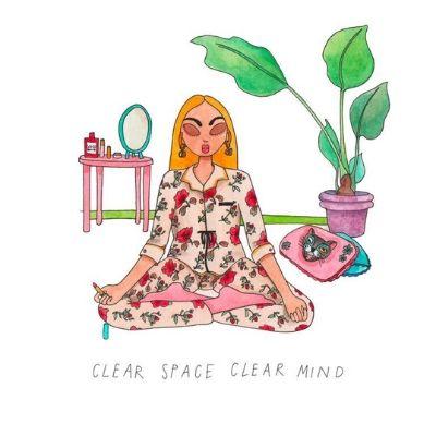 ilustraciones gucci beauty x Emma Allegretti meditacion