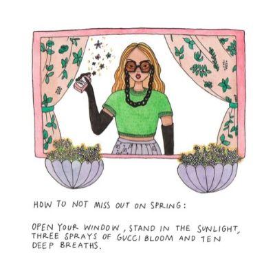 ilustraciones gucci beauty x Emma Allegretti respiracion